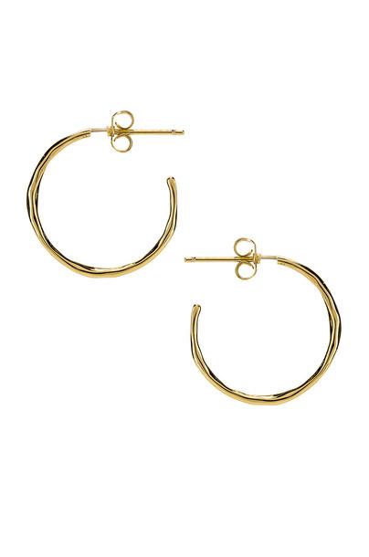 gorjana Taner Small Hoop Earrings in gold / metallic