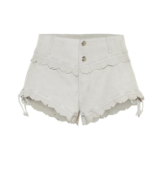Isabel Marant Aleixo suede shorts in white