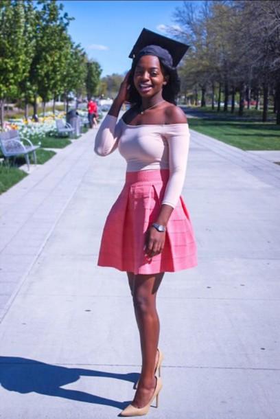 skirt pink tumblr melanin cute