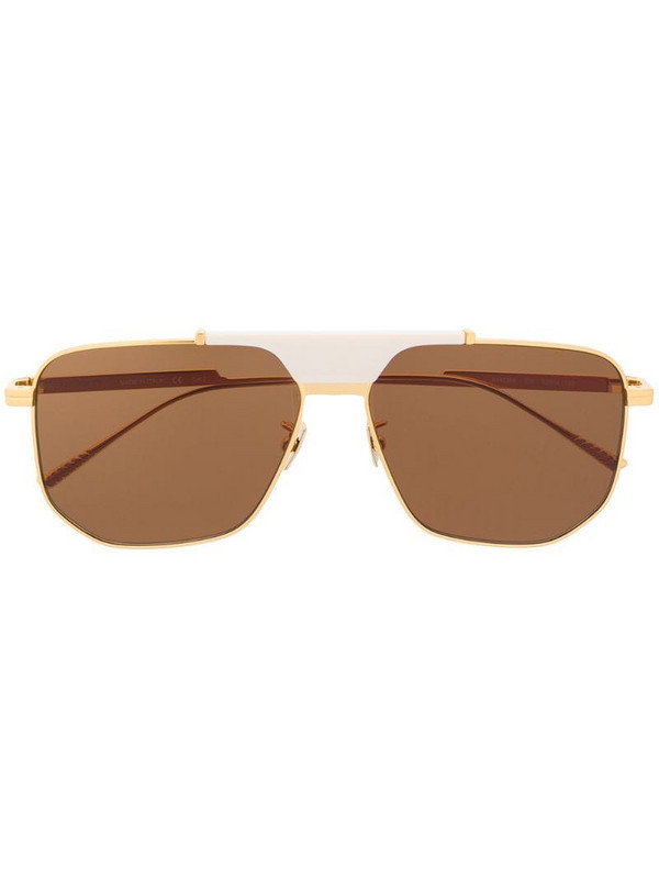 Bottega Veneta Eyewear BV1036S hexagonal-frame sunglasses in gold
