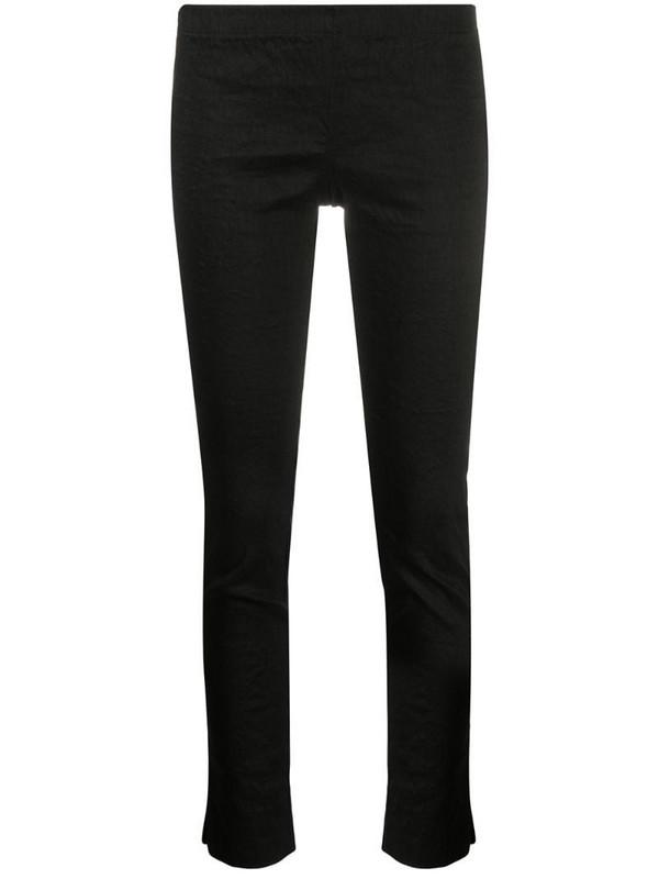 Uma Wang cropped linen-blend trousers in black