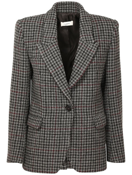 ISABEL MARANT ÉTOILE Kerstin Wool Single Breast Jacket in black / grey
