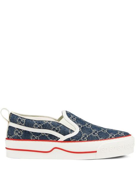 Gucci Tennis 1977 slip-on sneakers in blue