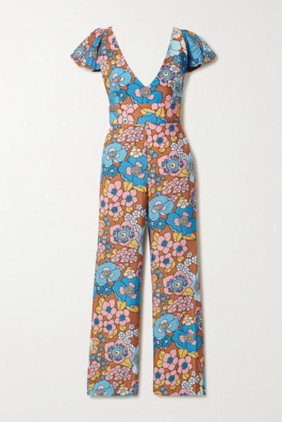 Dodo Bar Or - Jenny Floral-print Crinkled-voile Jumpsuit - Blue