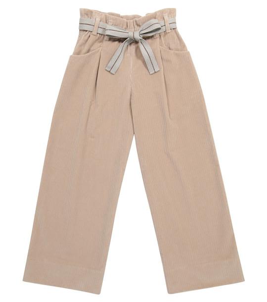 Brunello Cucinelli Kids Corduroy pants in pink