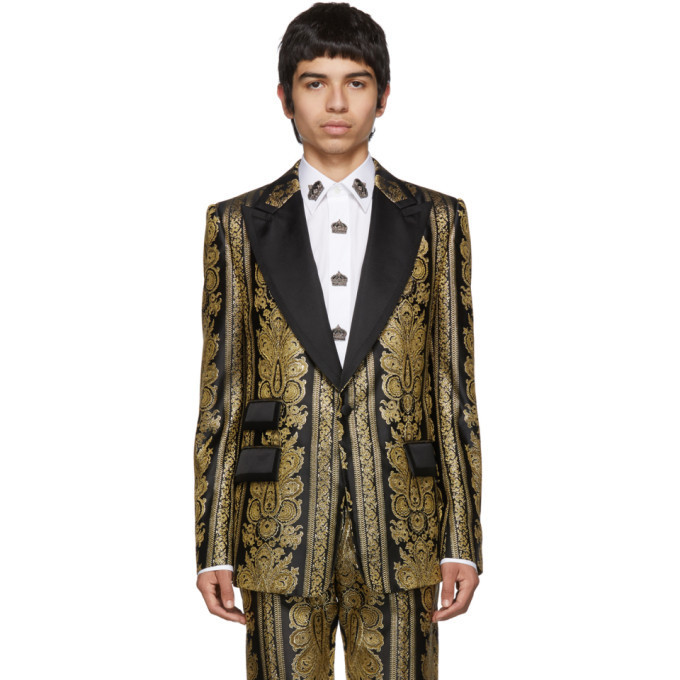 Dolce and Gabbana Dolce & Gabbana Gold Evening Blazer