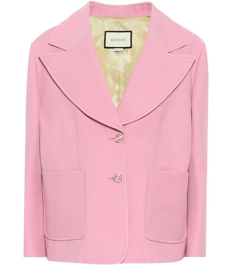 Gucci Silk and wool cady blazer in pink