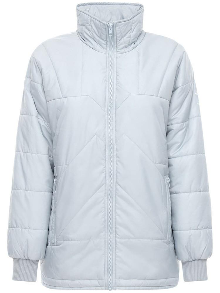 KENZO Lightweight Nylon Puffer Jacket in blue