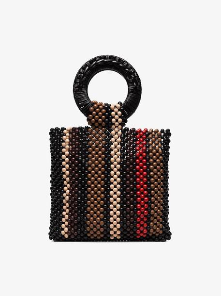 Ulla Johnson Arusi beaded tote bag in brown