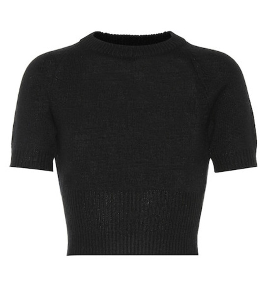 Prada Cropped cashmere sweater in black