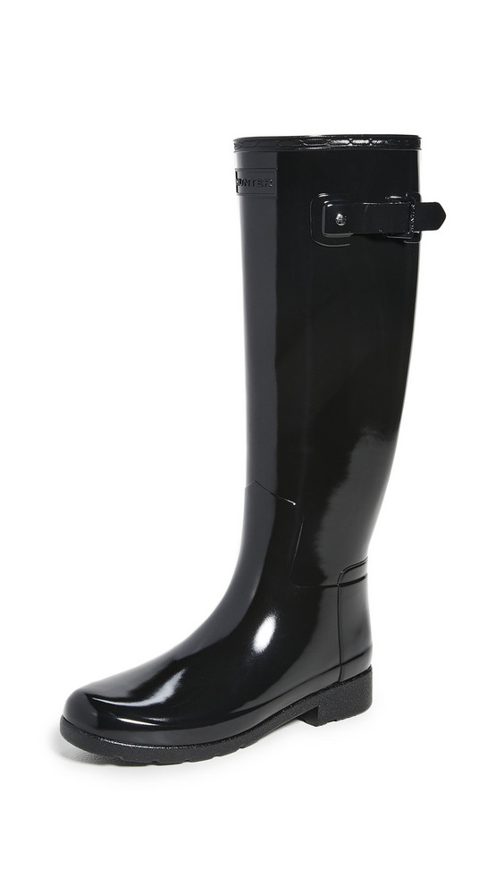 Hunter Boots Original Refined Gloss Boots in black