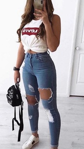 jeans,blue,ripped