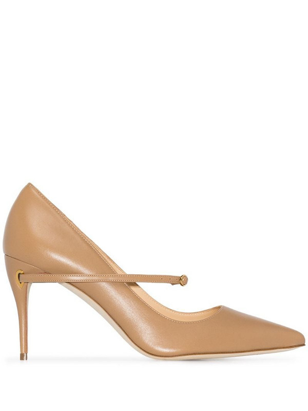 Jennifer Chamandi Lorenzo 85 pointed pumps in neutrals