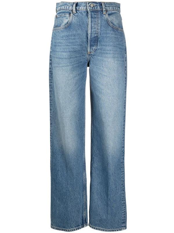 BOYISH DENIM wide-leg high-waisted jeans in blue