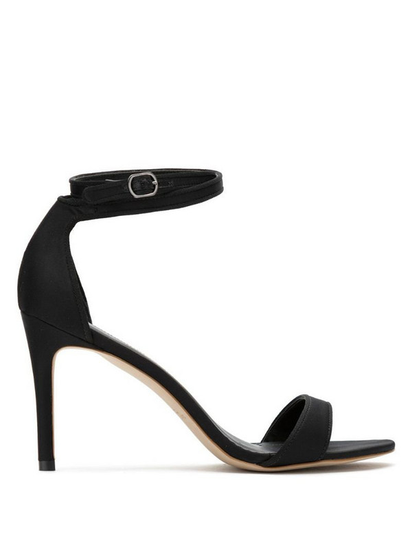 Sarah Chofakian satin stiletto heel sandals in black