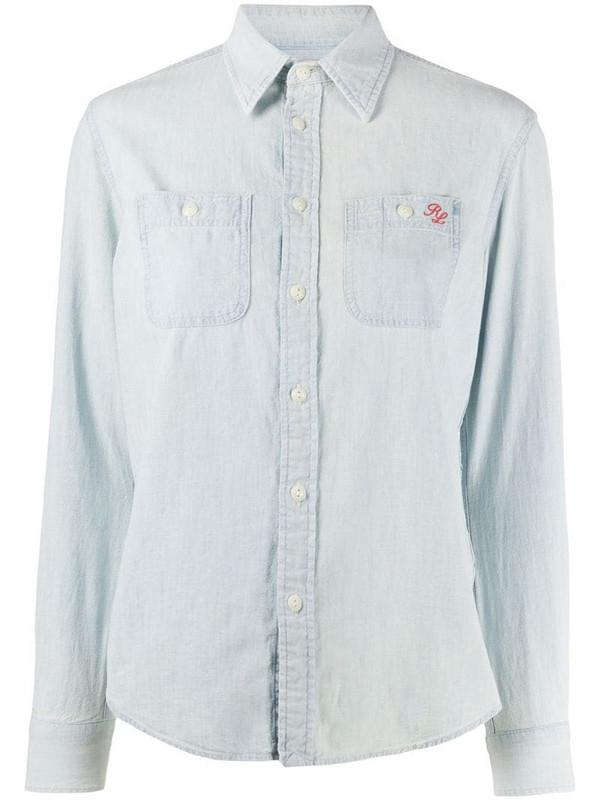 Polo Ralph Lauren teddybear print shirt in blue