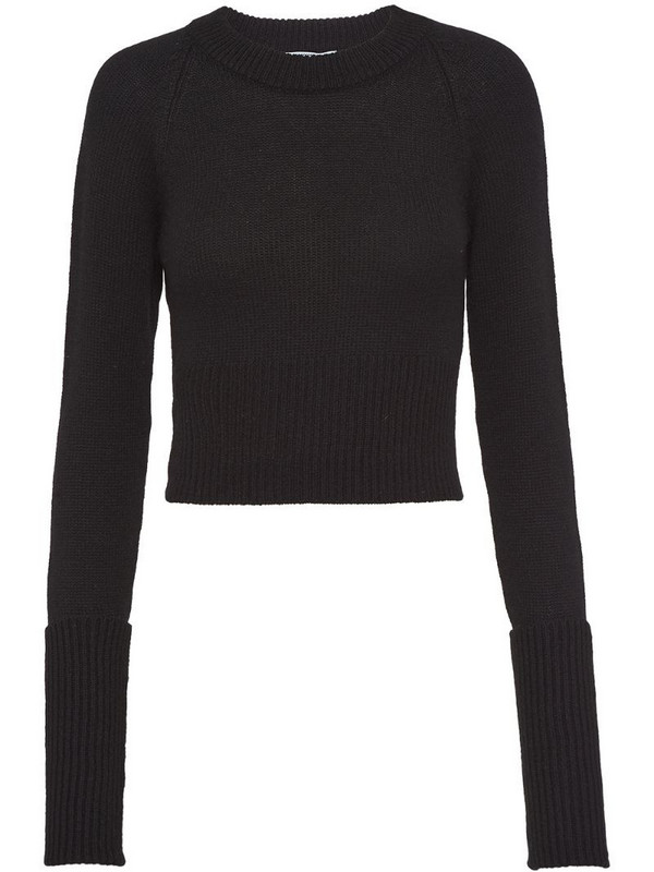 Prada crew-neck cashmere jumper in black