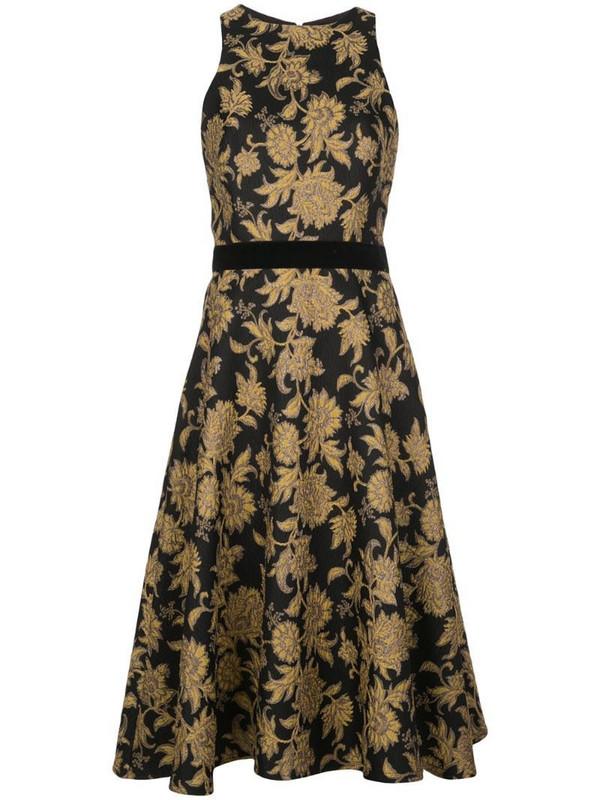 Tadashi Shoji Preecha jacquard dress in black