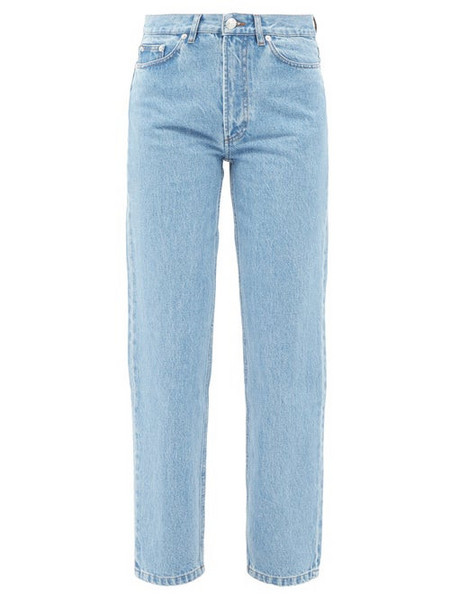 A.P.C. A.P.C. - Martin High-rise Stonewashed Straight-leg Jeans - Womens - Light Denim