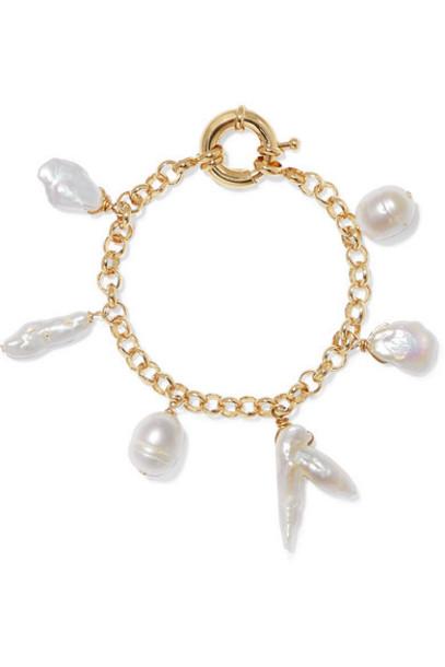 éliou éliou - Deia Gold-plated Pearl Bracelet