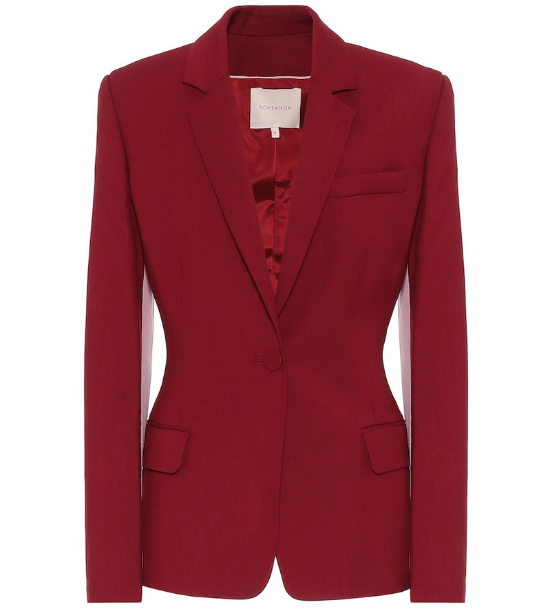 Roksanda Loa twill blazer in red