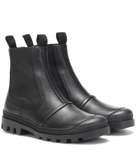 Loewe Leather ankle boots in black