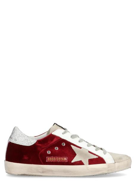 Golden Goose super Star Shoes in burgundy