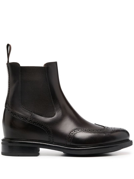 Santoni Chelsea ankle boots in brown