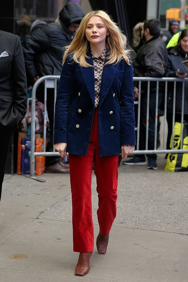jacket chloe grace moretz pants celebrity