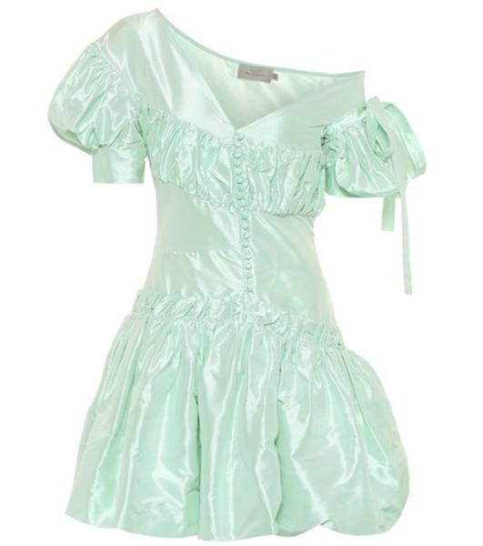 Preen by Thornton Bregazzi Janine taffeta minidress in green