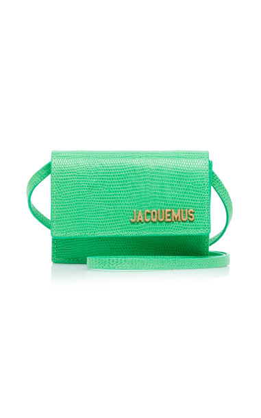 Jacquemus Le Bello Textured-Leather Bag in green
