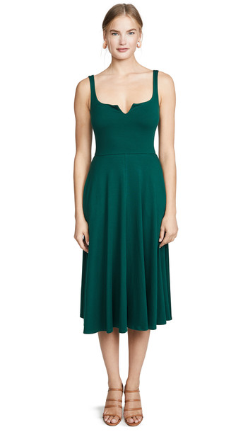 Reformation Zarina Dress in emerald