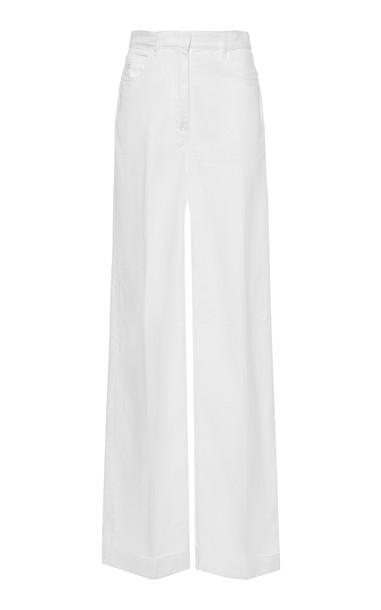 Philosophy di Lorenzo Serafini Cotton-Drill Cuffed Wide-Leg Trousers S in white