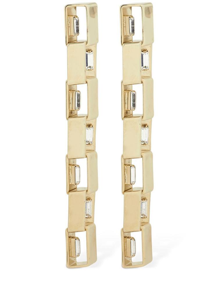 ROSANTICA Eleonor Pendant Earrings W/ Crystal in gold