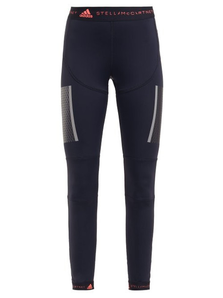 leggings high run black pink pants