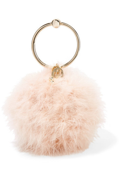 Rosantica - Milady Feather-embellished Clutch - Baby pink