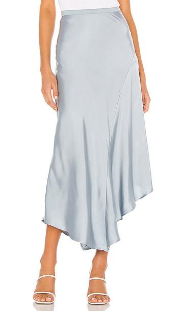 ANINE BING Bailey Silk Skirt in Baby Blue