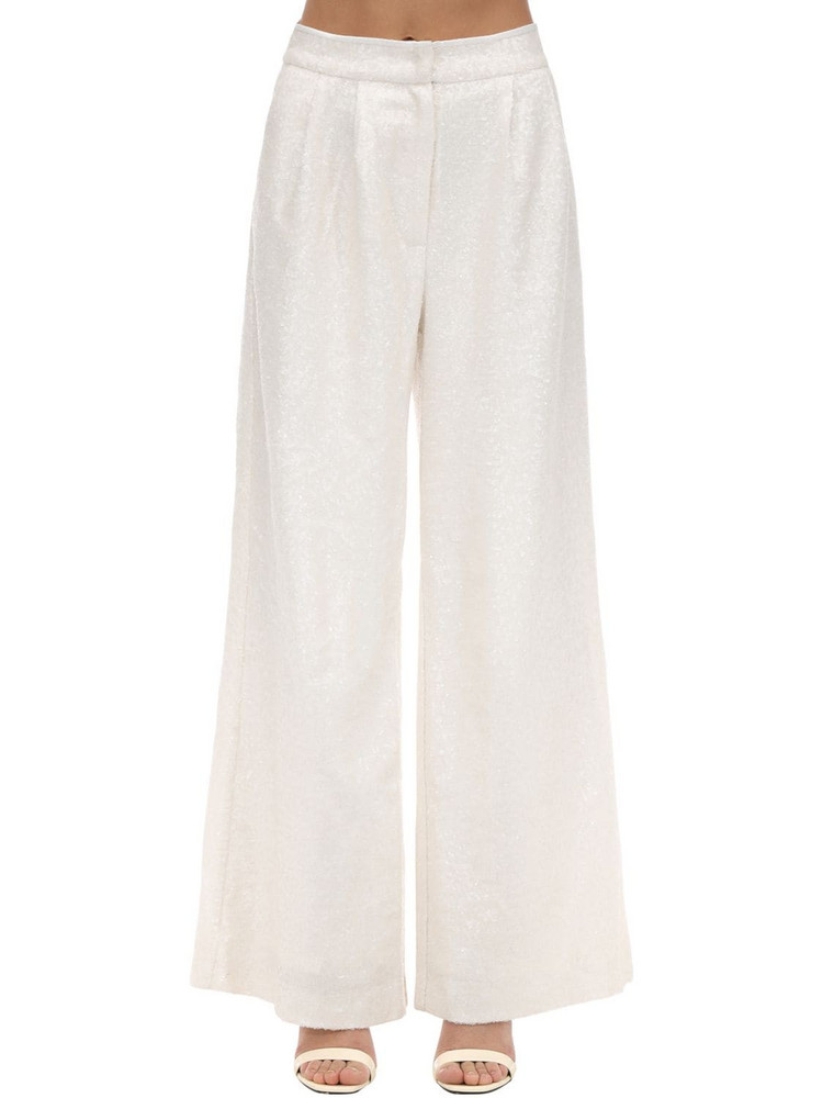IN THE MOOD FOR LOVE High Waist Wide Leg Pants in white