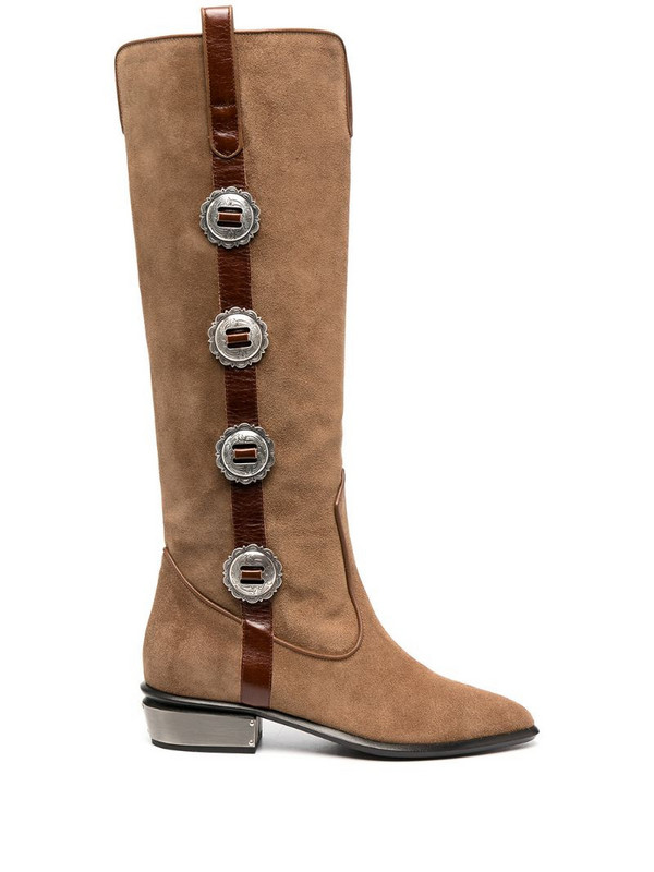 Kate Cate button-detail boots in brown