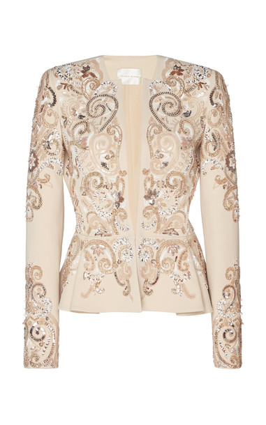 Zuhair Murad Sequin-Embellished Structured Jacket Size: 32 in neutral