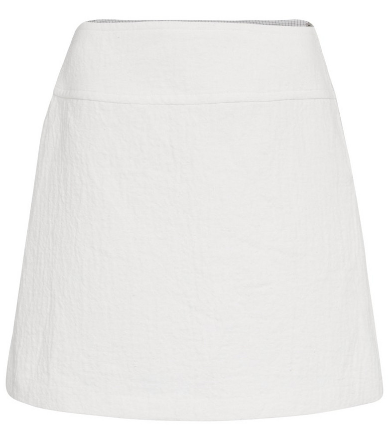 A.P.C. Wright high-rise miniskirt in white
