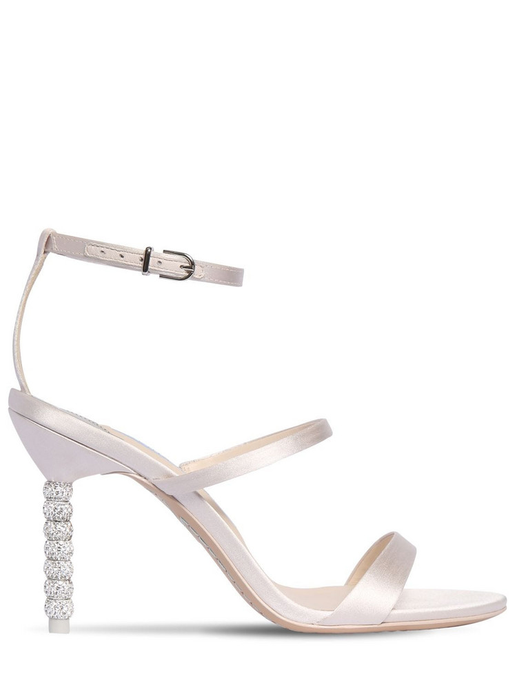 SOPHIA WEBSTER 85mm Rosalind Satin Sandals in ivory