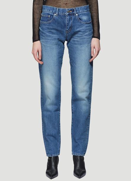Saint Laurent Boyfriend Jeans in Blue size 29