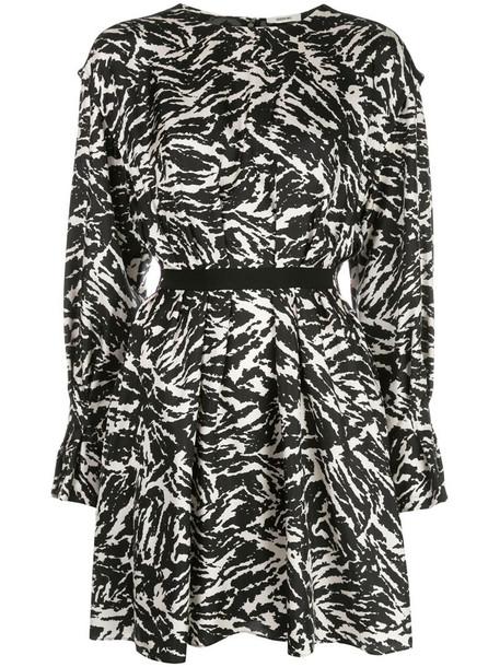 Jason Wu zebra-print mini dress in black