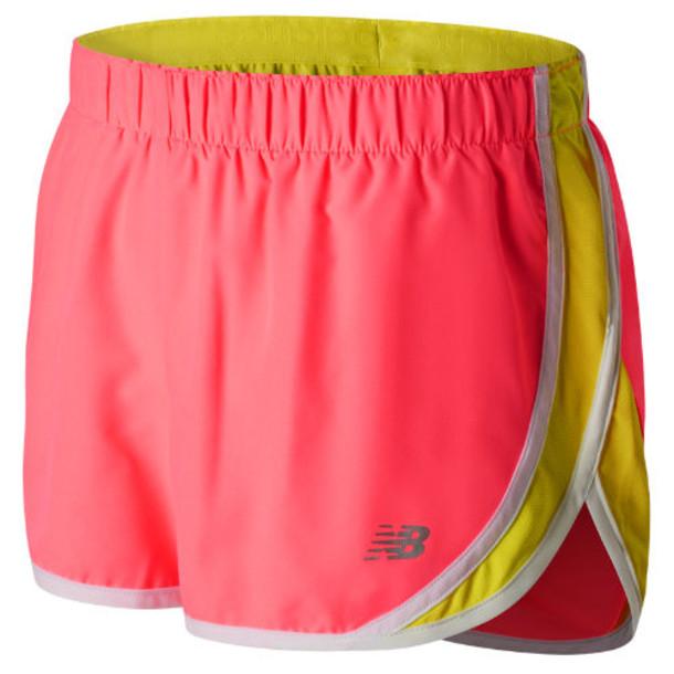 New Balance 53145 Women's Accelerate 2.5 Inch Short - Pink/Yellow (WS53145GUA)