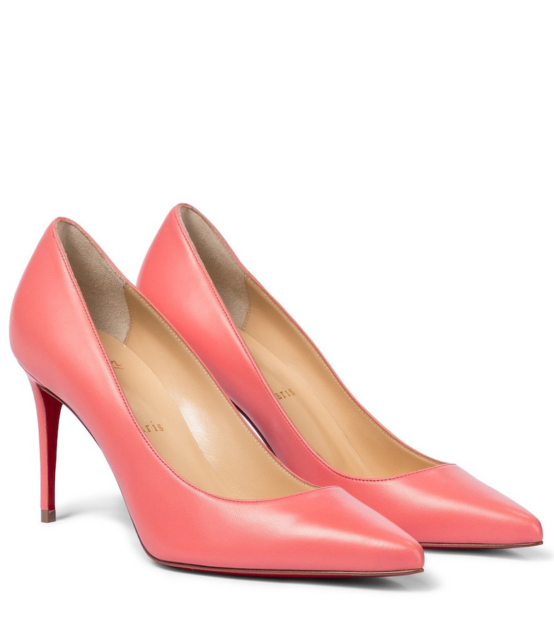Christian Louboutin Kate 85 leather pumps in pink