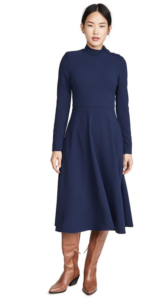 Black Halo Antonia Dress in blue