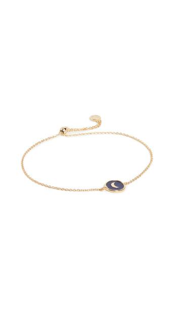 Gorjana Moon Coin Bracelet in navy / gold