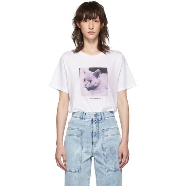 Stella McCartney White Kitten T-Shirt