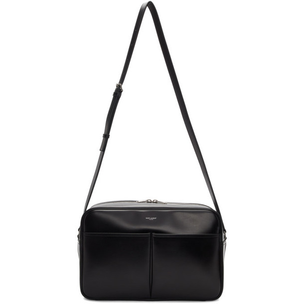 Saint Laurent Black Brooklyn Messenger Bag